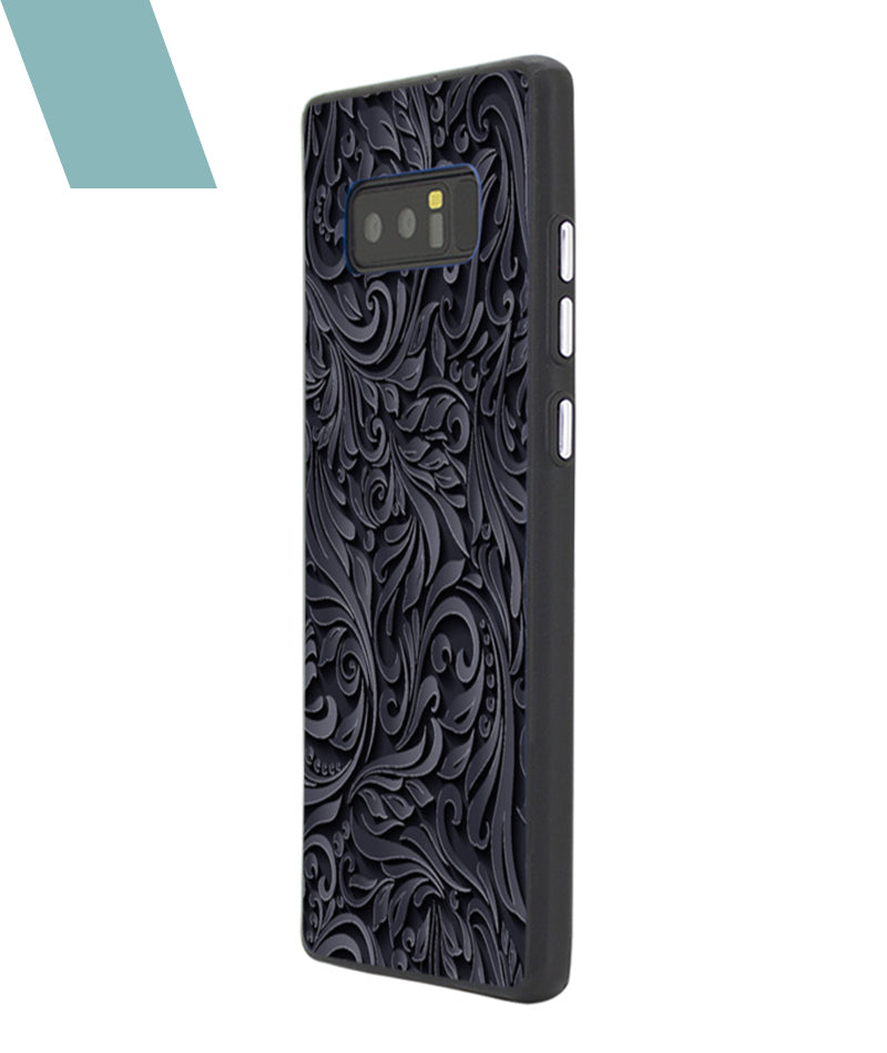 Black and Grey Floral Case For Galaxy Note 8