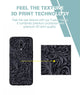 Black and Grey Floral Case For OnePlus 6T