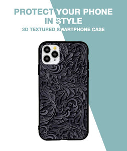 Black and Grey Floral Case For iPhone 11 Pro Max