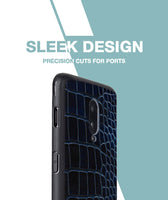 Blue Black Croco Case For OnePlus 6T