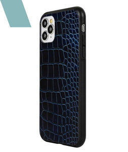 Blue Black Croco Case For iPhone 11 Pro