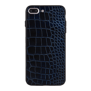Blue Black Croco Case For iPhone 7 Plus