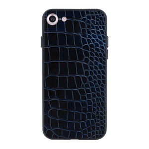 Blue Black Croco Case For iPhone 7