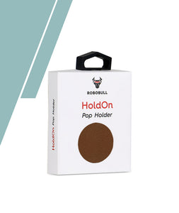 Brown Leather Pop Up Holder