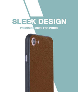 Brown Leather Case For iPhone 8