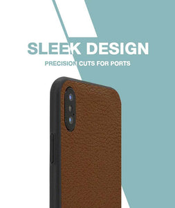 Brown Leather Case For iPhone Xs