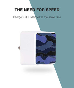 Camouflage Blue Bolt Wall Charger