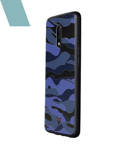 Camouflage Blue Case For OnePlus 7