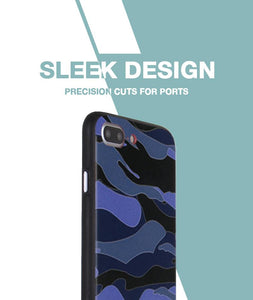 Camouflage Blue Case For iPhone 8 Plus