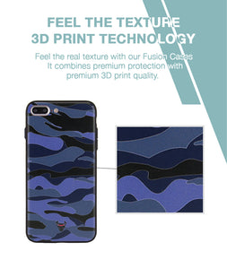 Camouflage Blue Case For iPhone 7 Plus