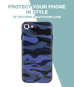 Camouflage Blue Case For iPhone 8