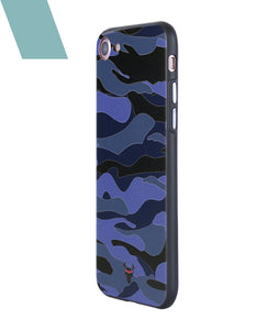 Camouflage Blue Case For iPhone 7