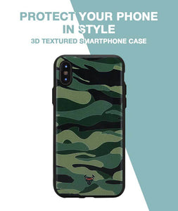 Camouflage Green Case For iPhone X