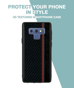 Carbon Black Red Stripe Case For Galaxy Note 9