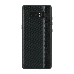 Carbon Black Red Stripe Case For Galaxy Note 8