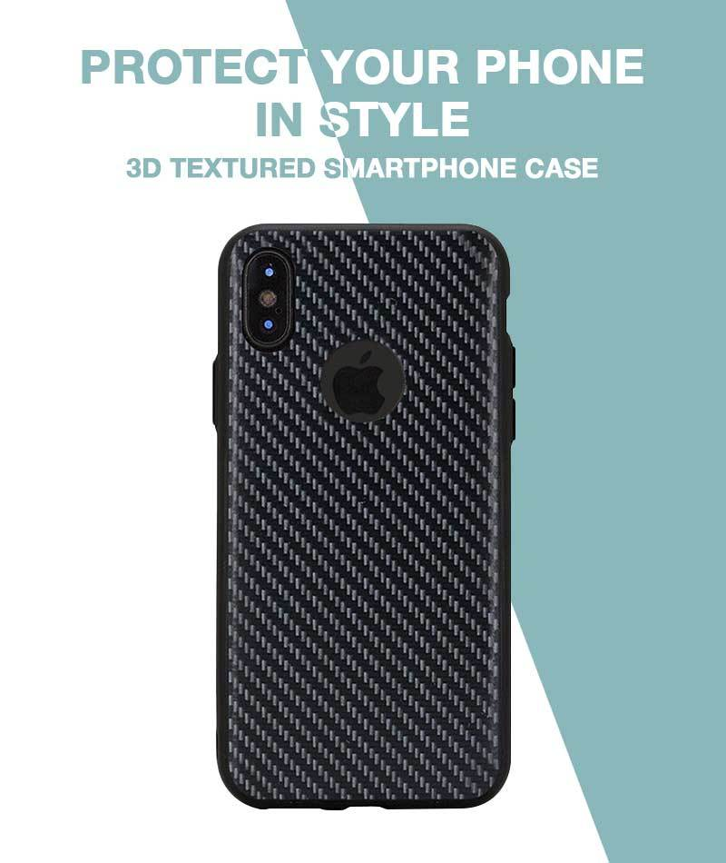 Carbon Black Case For iPhone X