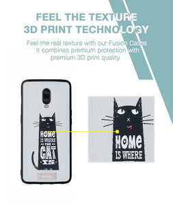 Cat At Home Case For OnePlus 6T