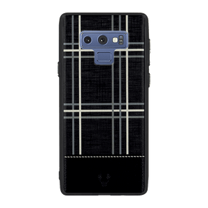 Checkered Black Case For Galaxy Note 9