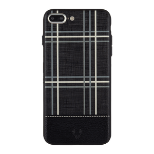 Checkered Black Case For iPhone 8 Plus