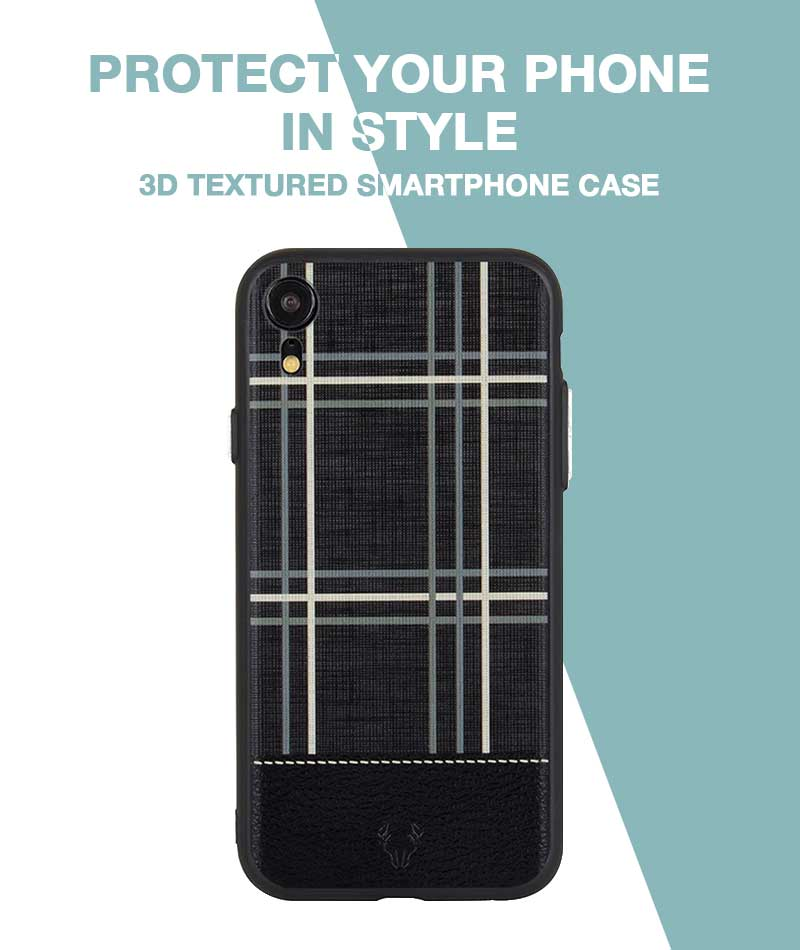 Checkered Black Case For iPhone XR