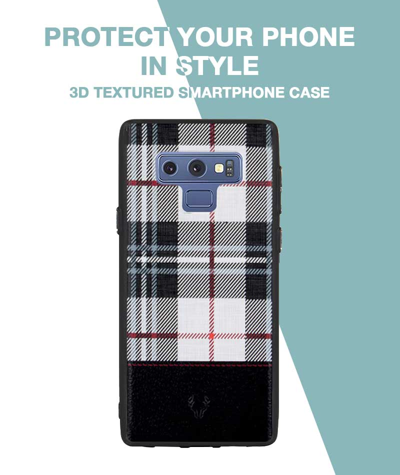 Checkered White Case For Galaxy Note 9