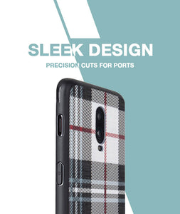 Checkered White Case For OnePlus 6T