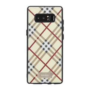 Checkered Yellow Case For Galaxy Note 8