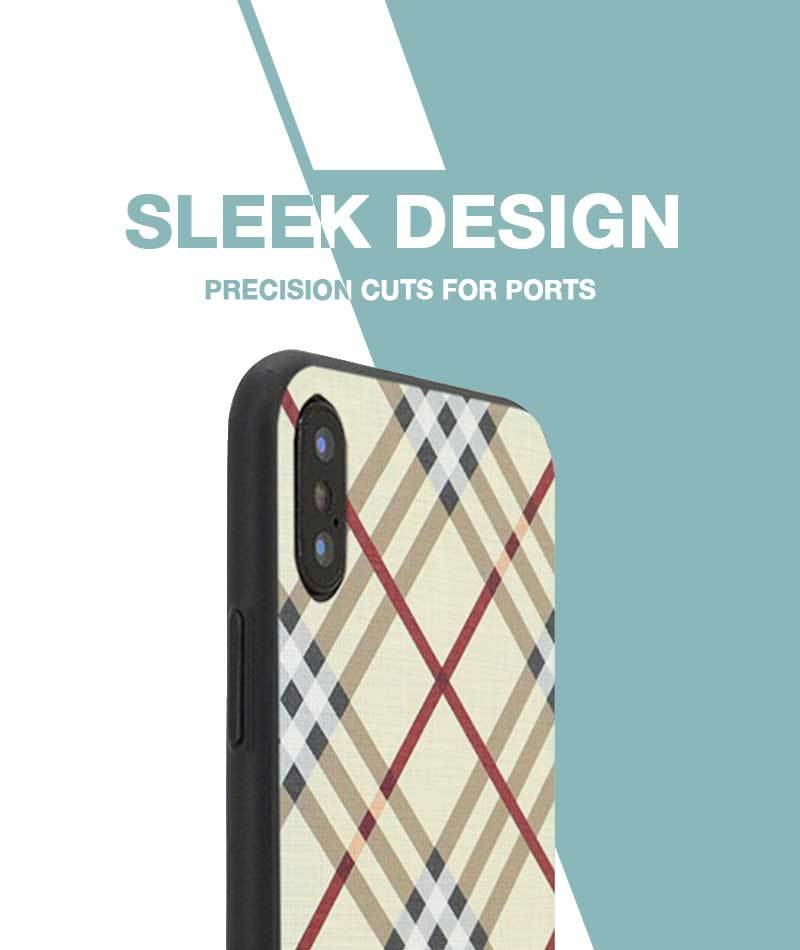Checkered Yellow Case For iPhone Xs