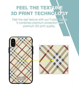 Checkered Yellow Case For iPhone X