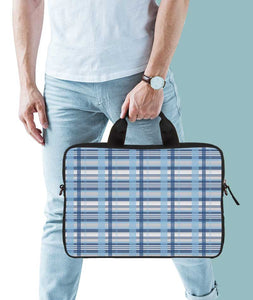 Checks And Grids Jade Black Laptop Briefcase