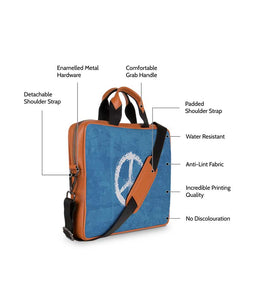 Circle Of Life Tan Laptop Briefcase