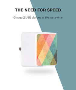 Color Pop Canvas Bolt Wall Charger