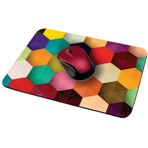 Colored Hexagon Designer Leather Mouse Pad