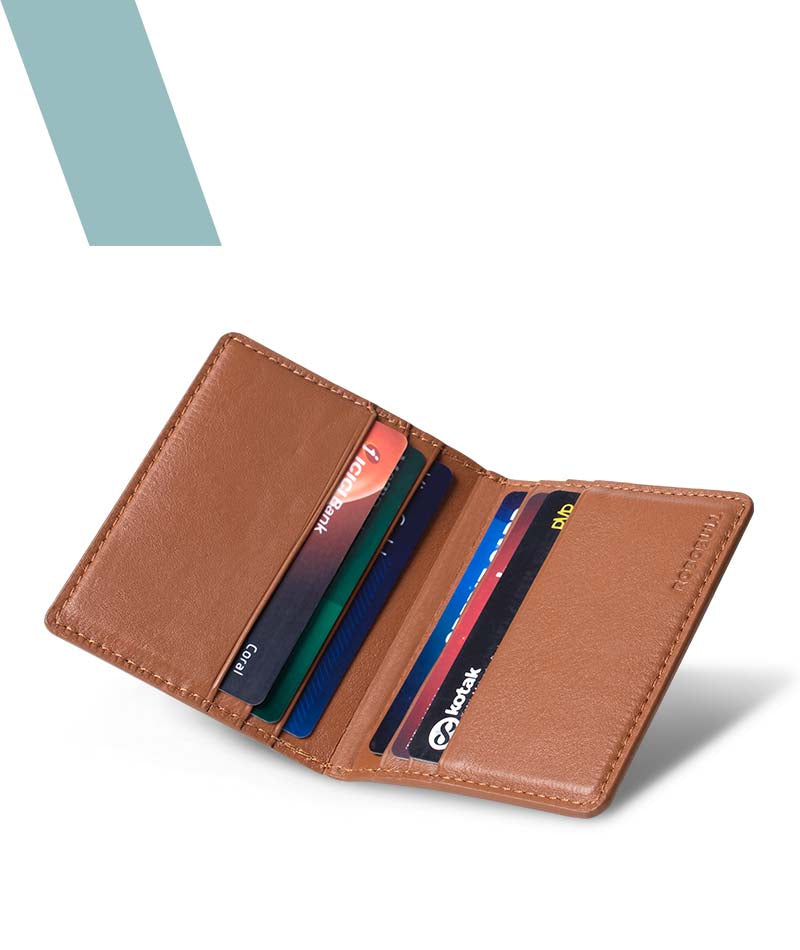 Pastel Feathers Credit Card Wallet