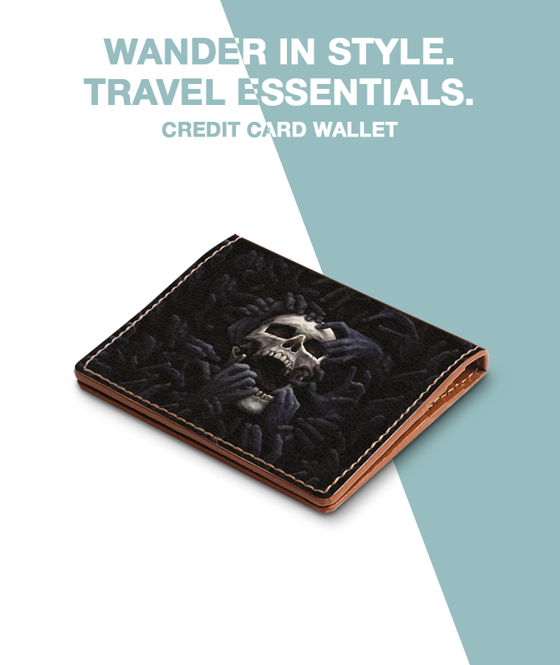 Creepy Skull Credit Card Wallet