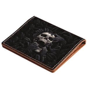 Creepy Skull Hybrid Card Wallet
