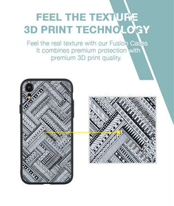 Crossing Patterns Case For iPhone XR