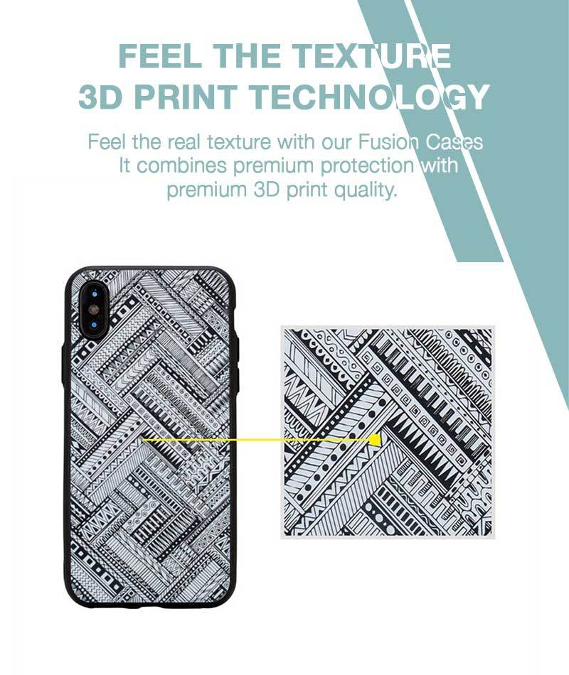 Crossing Patterns Case For iPhone Xs