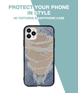 Distressed Jeans Case For iPhone 11 Pro
