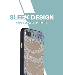 Distressed Jeans Case For iPhone 8 Plus