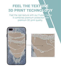 Distressed Jeans Case For iPhone 7 Plus