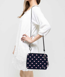 Dotted Kitty Jade Black Mini Shoulder Bag