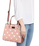 Down Fall Pink Top Handle Bag Medium