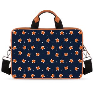 Fox Are Cute Too Tan Laptop Briefcase 15.6""