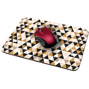 Glitter Triangles Designer Leather Mouse Pad