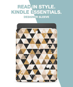 Glitter Triangles Sleeve For Kindle