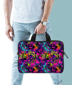 Graffic Print Jade Black Laptop Briefcase