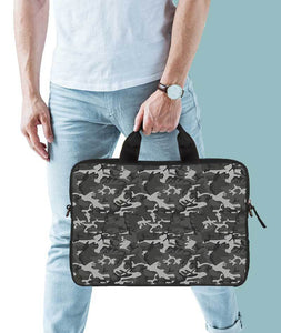 Grey Camouflage Jade Black Laptop Briefcase 15.6""