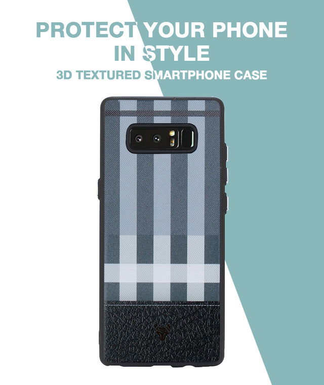 Grey Check Case For Galaxy Note 8