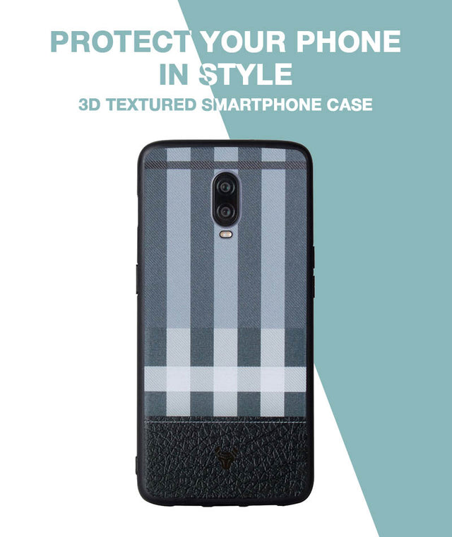 Grey Check Case For OnePlus 6T